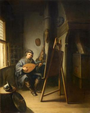 Gerard Dou Atelier du peintre collection privee