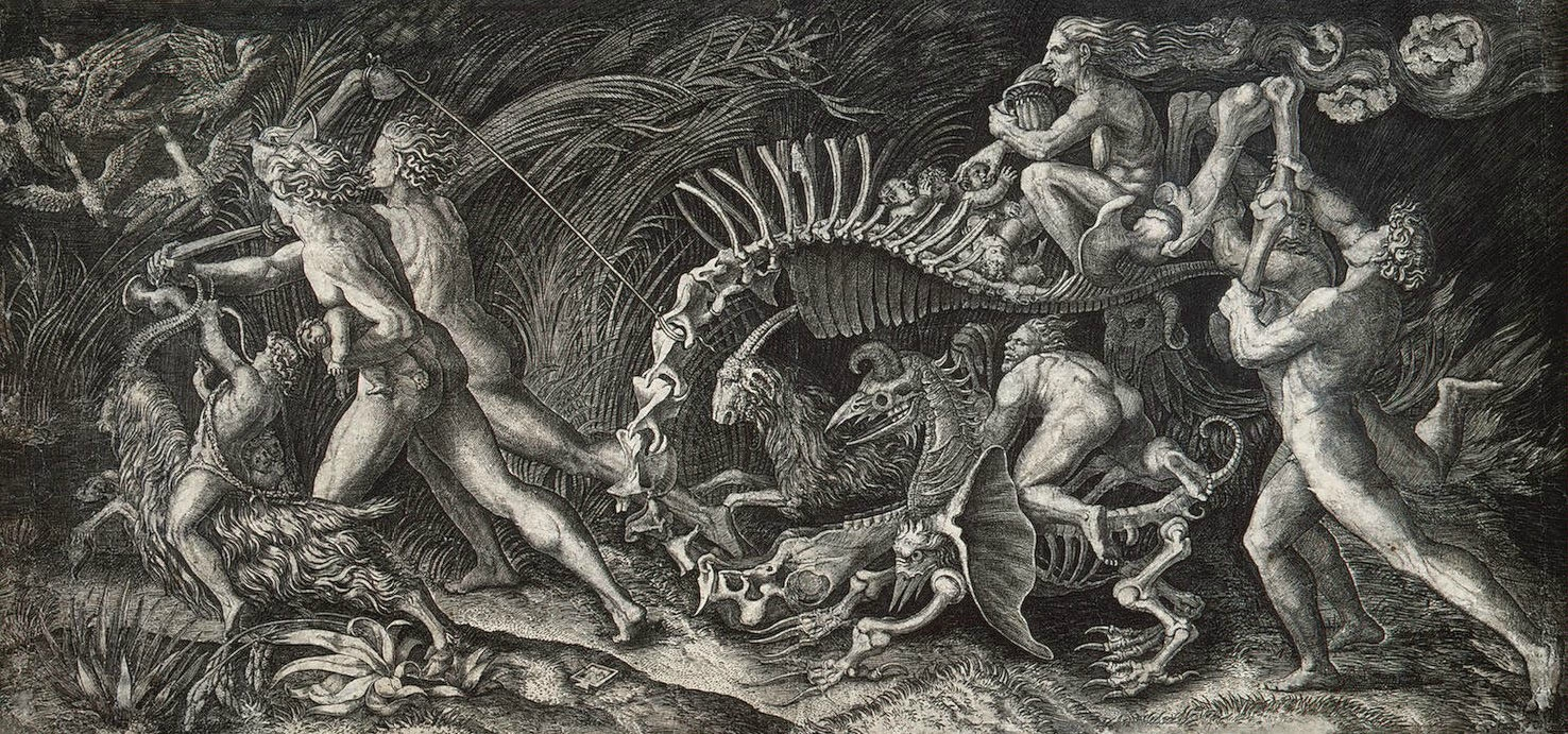 Girolamo Genga , The Witches Rout (The Carcass). Engraving, c. 1520