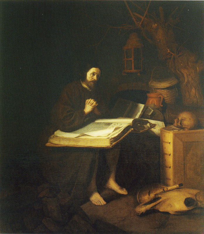 Hermit withe a large book anonymous Agnes Etherington Art Centre, Queen's University, Kingston