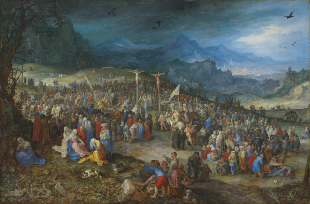 Jan Brueghel L'ancien ca 1598 Calvary Munich, Germany, Alte Pinakothek