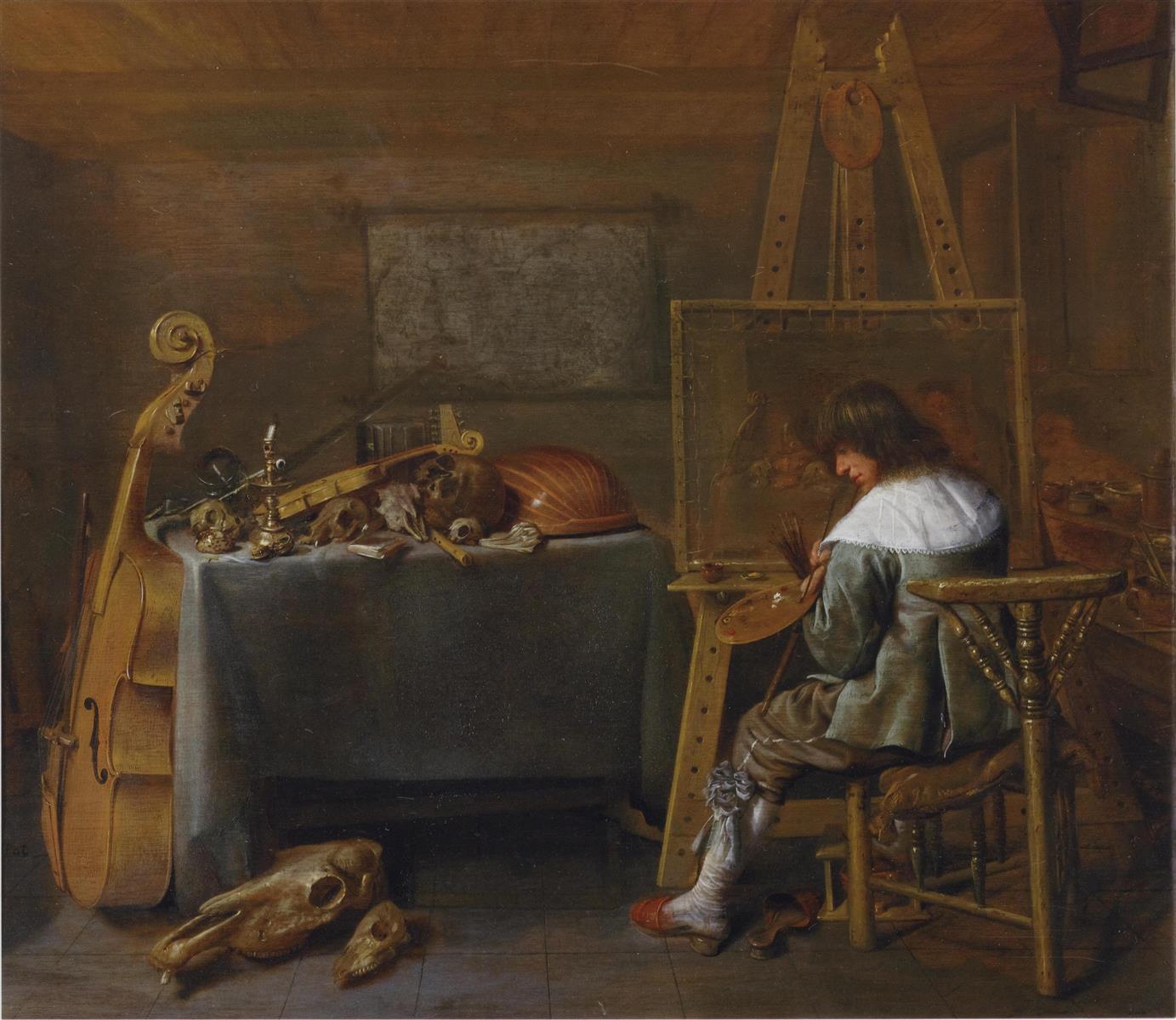 Jan Miense Molenaer 1650 painter-in-his-studio Museum Bredius La Haye