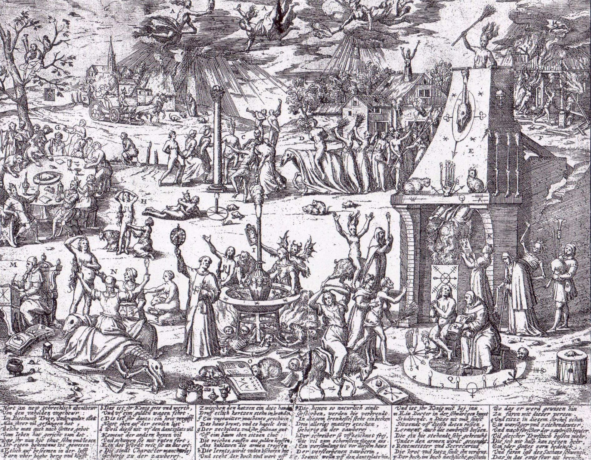Pamphlet de 1594 relatif au procès des sorcières de Treves