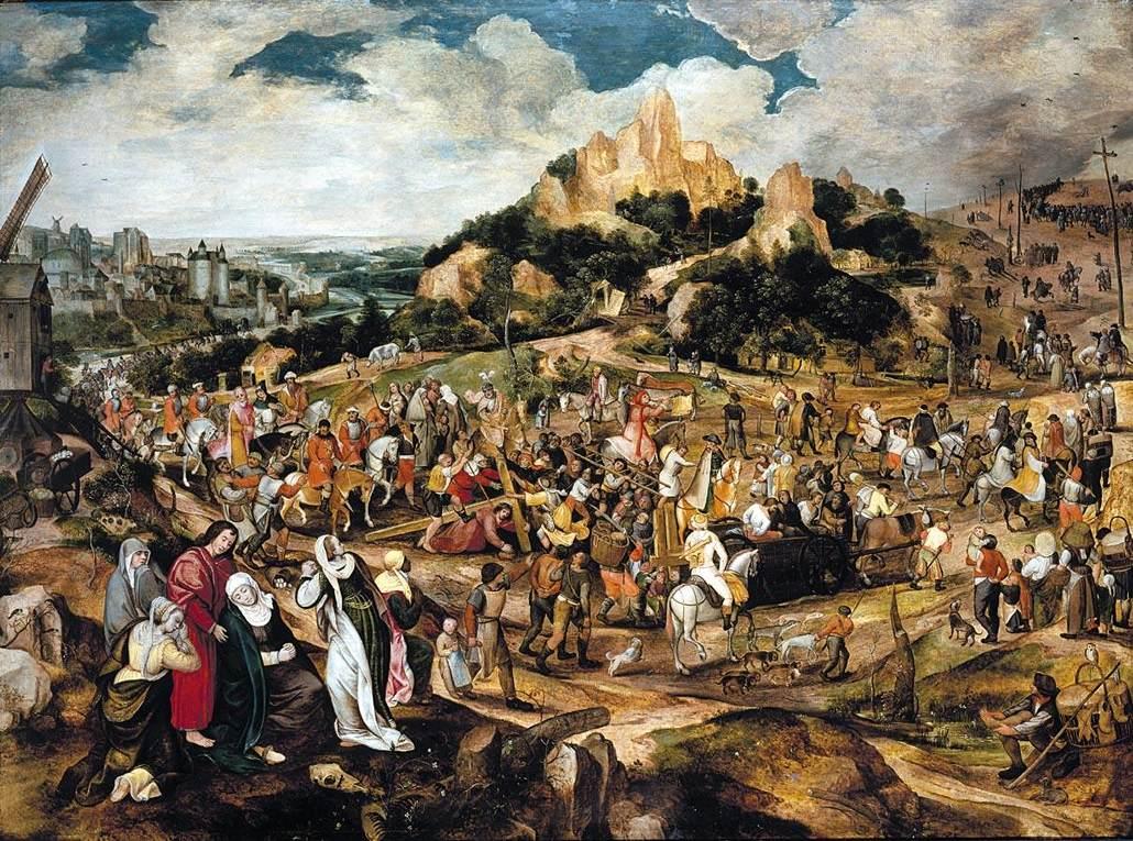 Pieter_Balten_-_Christ_on_the_Road_to_Calvary_-_WGA01235 vers 1560