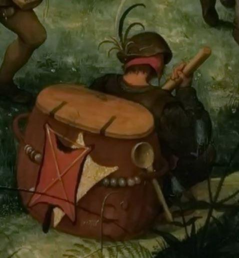 Pieter_Bruegel 1564 Portement de Croix colporteur