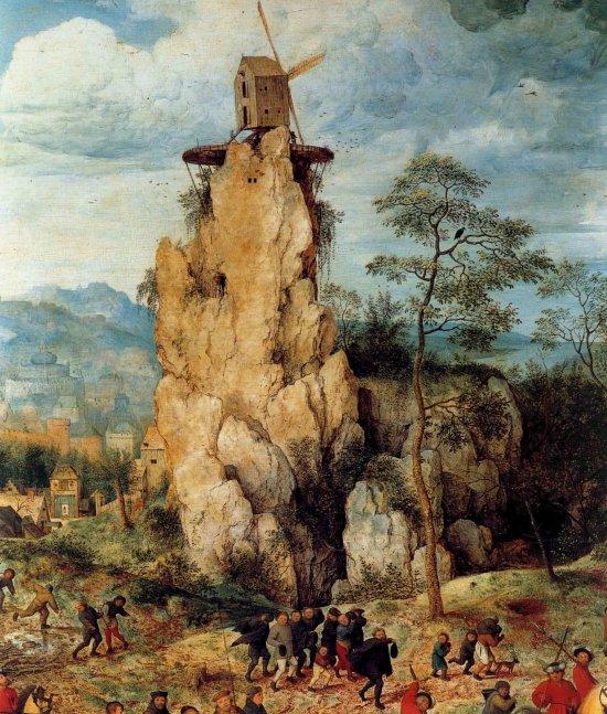 Pieter_Bruegel 1564 Portement de Croix moulin
