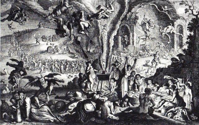 Sabbat de sorcieres sur le mont Brocken Michael Herr, 1650