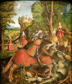 St_George_fighting_the_dragon_Leonhard_Beck 1515 Kunsthistorisches Museum