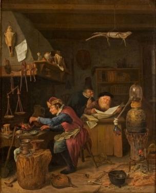Steen Jan L'Alchimiste vers 1700 Rijksmuseum Twenthe