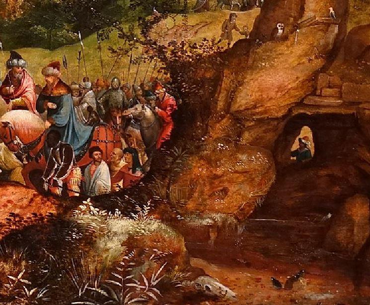 The_Road_to_Calvary,_by_Herri_Met_de_Bles,_Flemish,_c._1535,_oil_on_wood_panel_-_Princeton_University_Art_Museum_-_DSC06662 detail crane