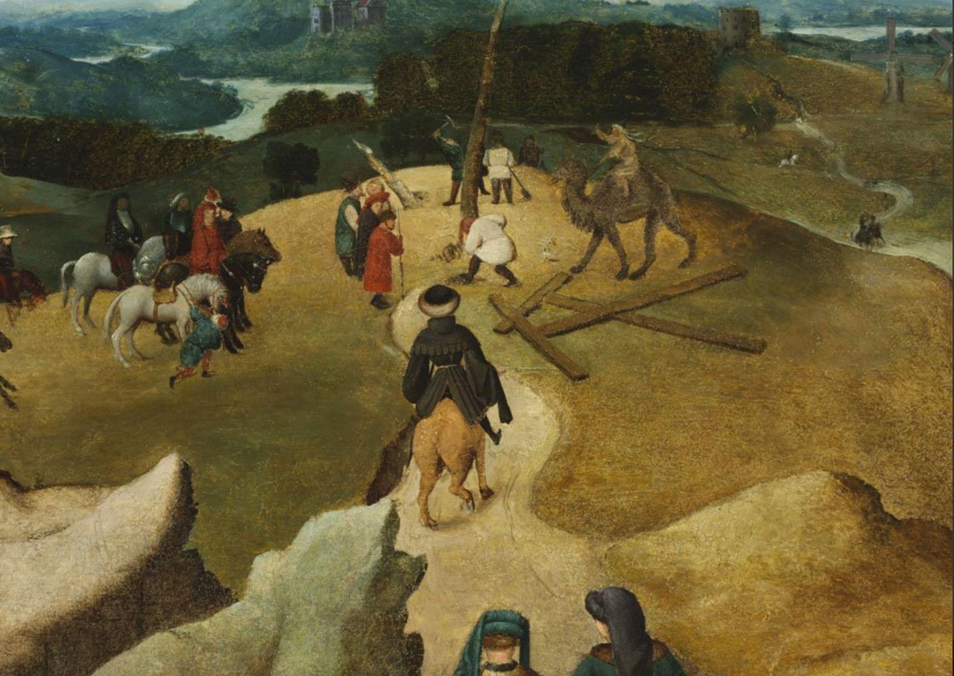 Van Eyck Portement Museum of Fine Arts, Budapest detail