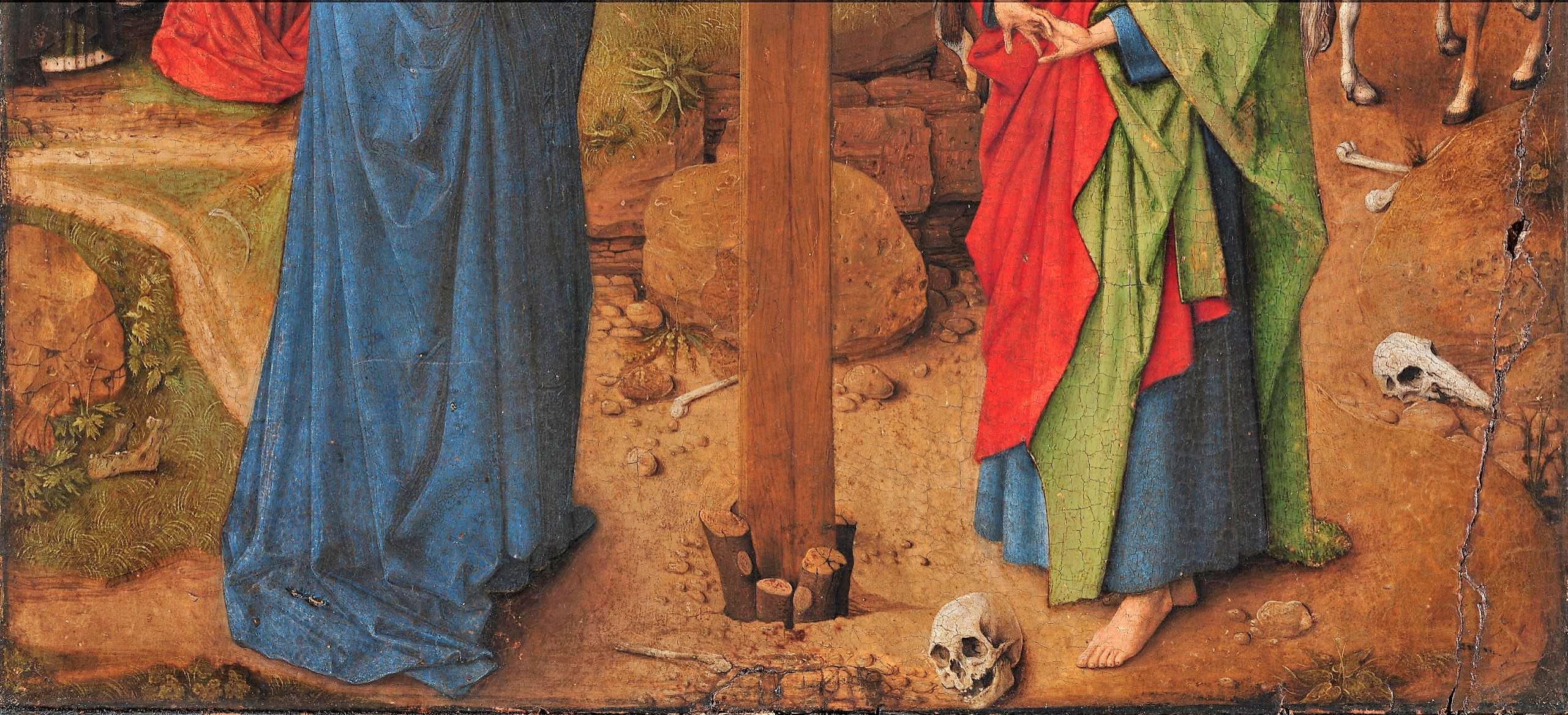 Van Eyck atelier 1440-50 Crucifixion Ca d'oro Venise bas