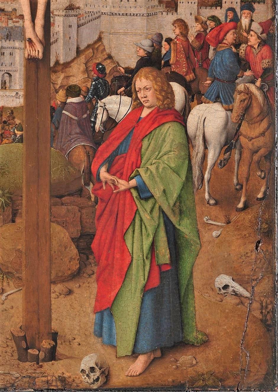 Van Eyck atelier 1440-50 Crucifixion Ca d'oro Venise detail Ct Jean