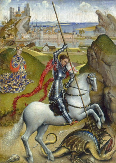 Van der Weyden Saint George and the dragon 1432-1435 NGA Washington