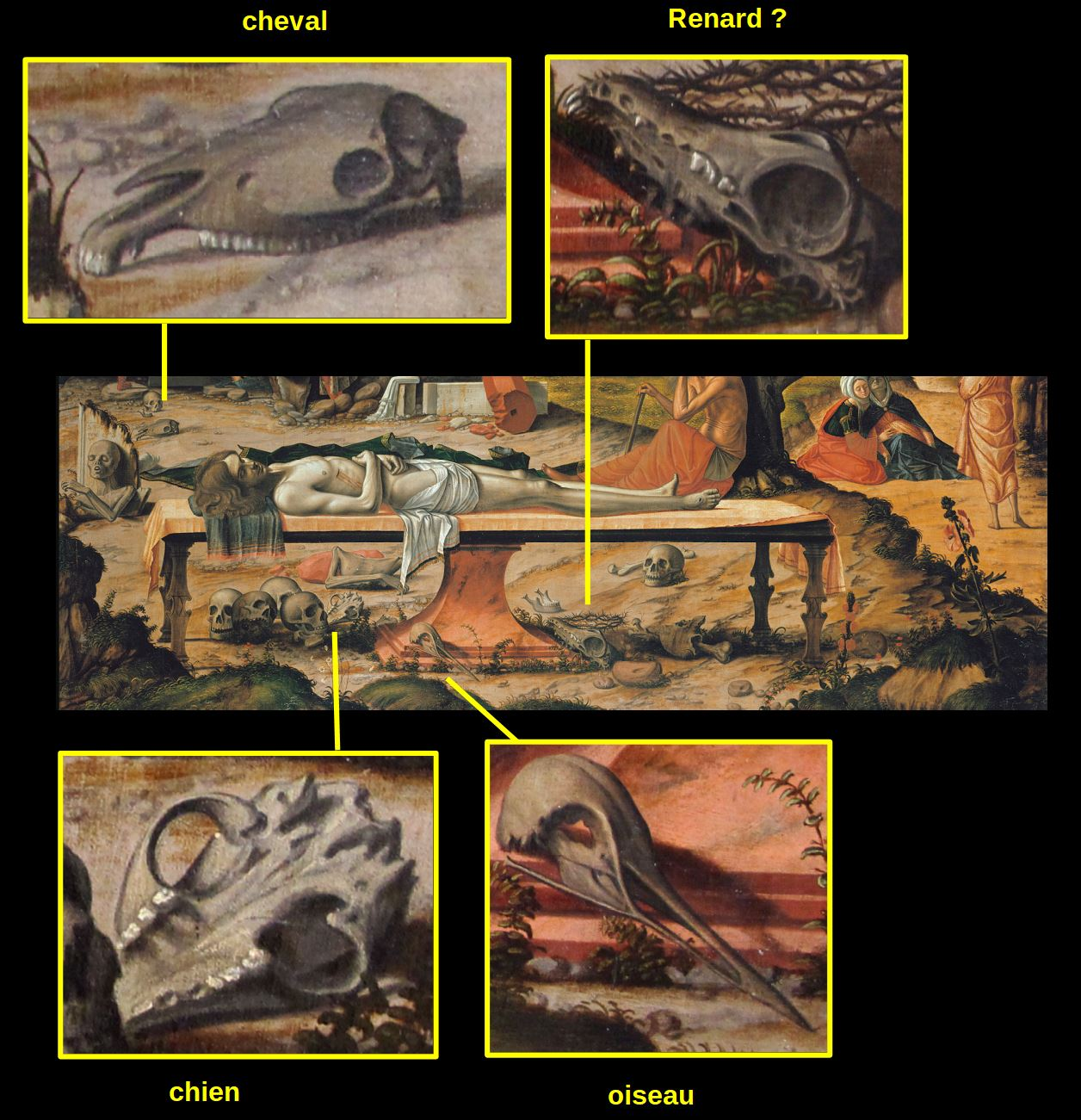 Vittore_Carpaccio_-_Preparation_of_Christ's_Tomb_-_Google_Art_Project (1505), Staatliche Museen, Berlin cranes