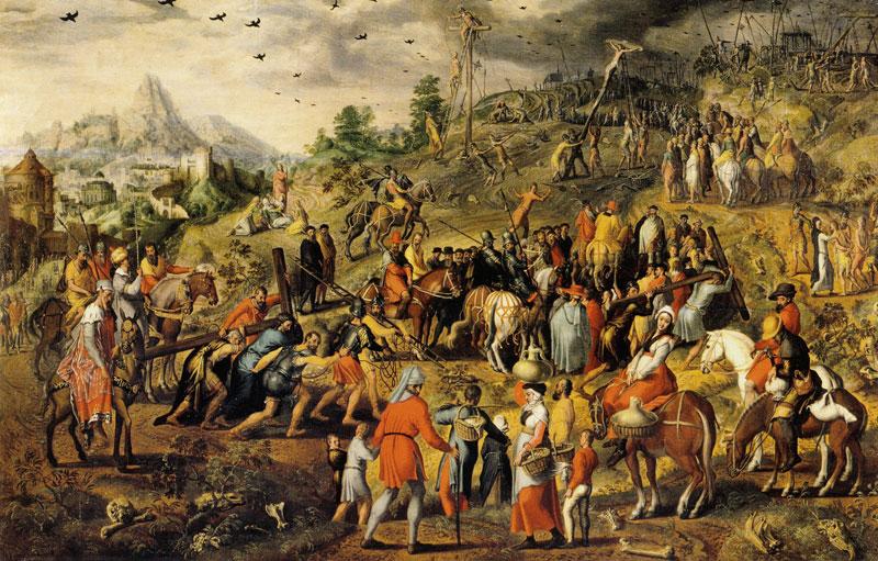 pieter aertsen_portement de croix 1552 Koninklijk Museum voor Schone Kunsten, Antwerp