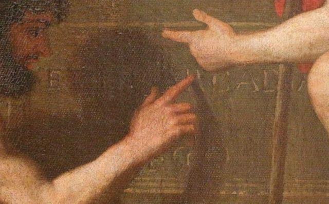 1599px-Nicolas_Poussin_-_Et_in_Arcadia_ego_(deuxième_version) inscription