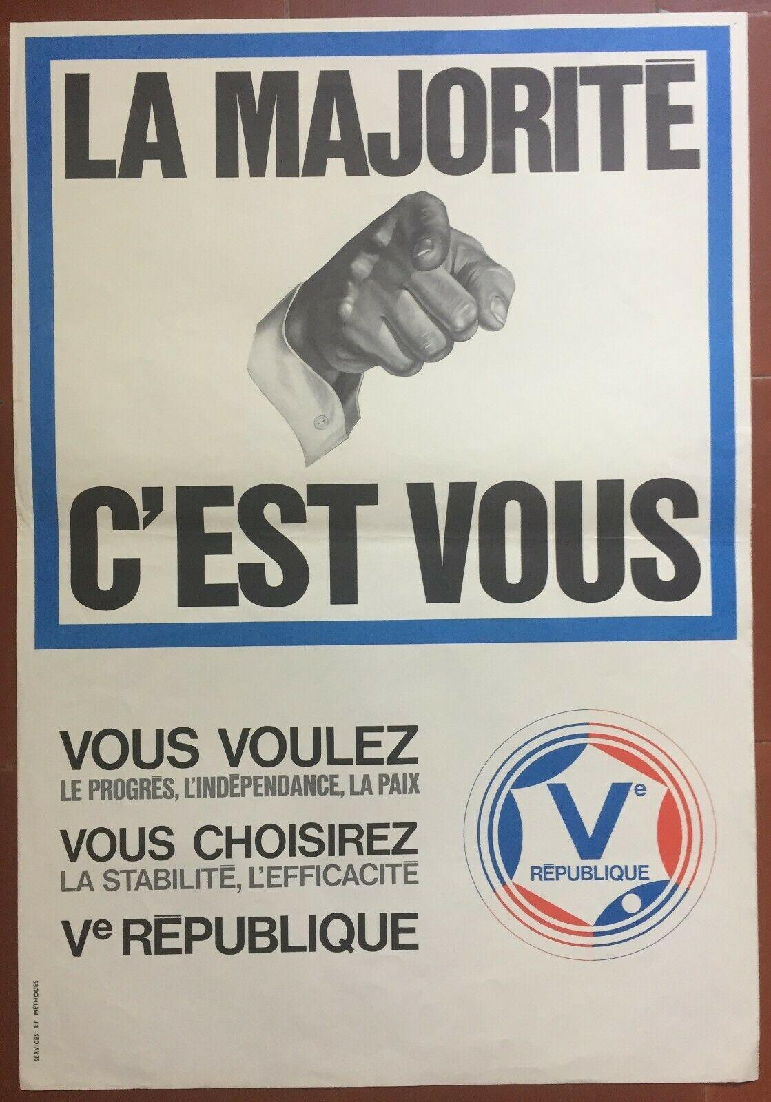 Affiche Gaulliste UD-Veme Legislatives 1967