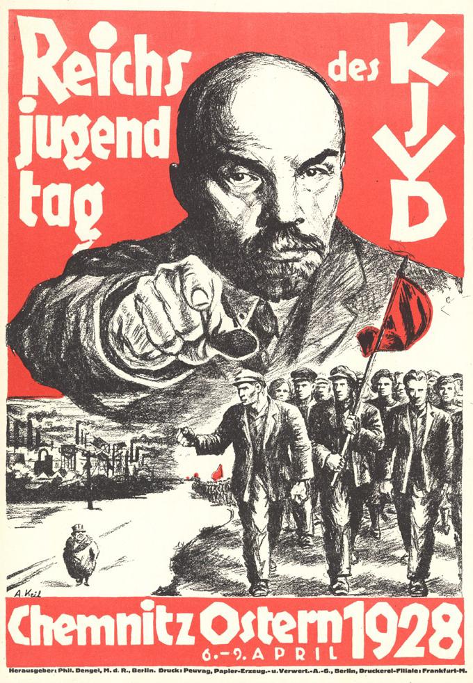 Allemagne 1928 Kommunistischer Jugendverband Deutschlands