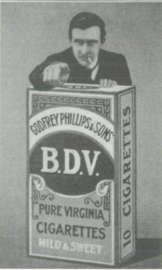 Angleterre 1910 Publicite pour les cigarettes BDV