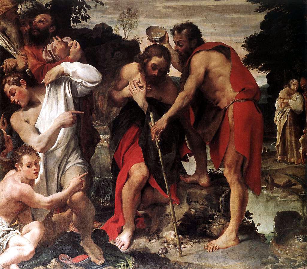 Annibale Carracci. The Baptism of Christ. 1584 San Gregorio, Bologna detail