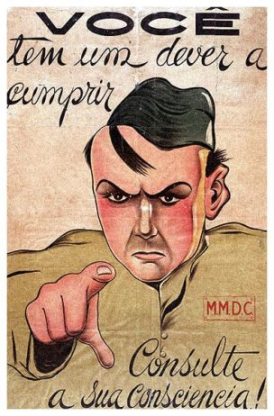 Bresil 1932 Constitutionalist Revolution recruitment poster You have a duty to fulfill. Ask your conscience 2