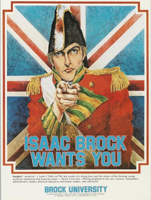 Canada 1987 Affiche de recrutement pour l universite ISAAC BROCK