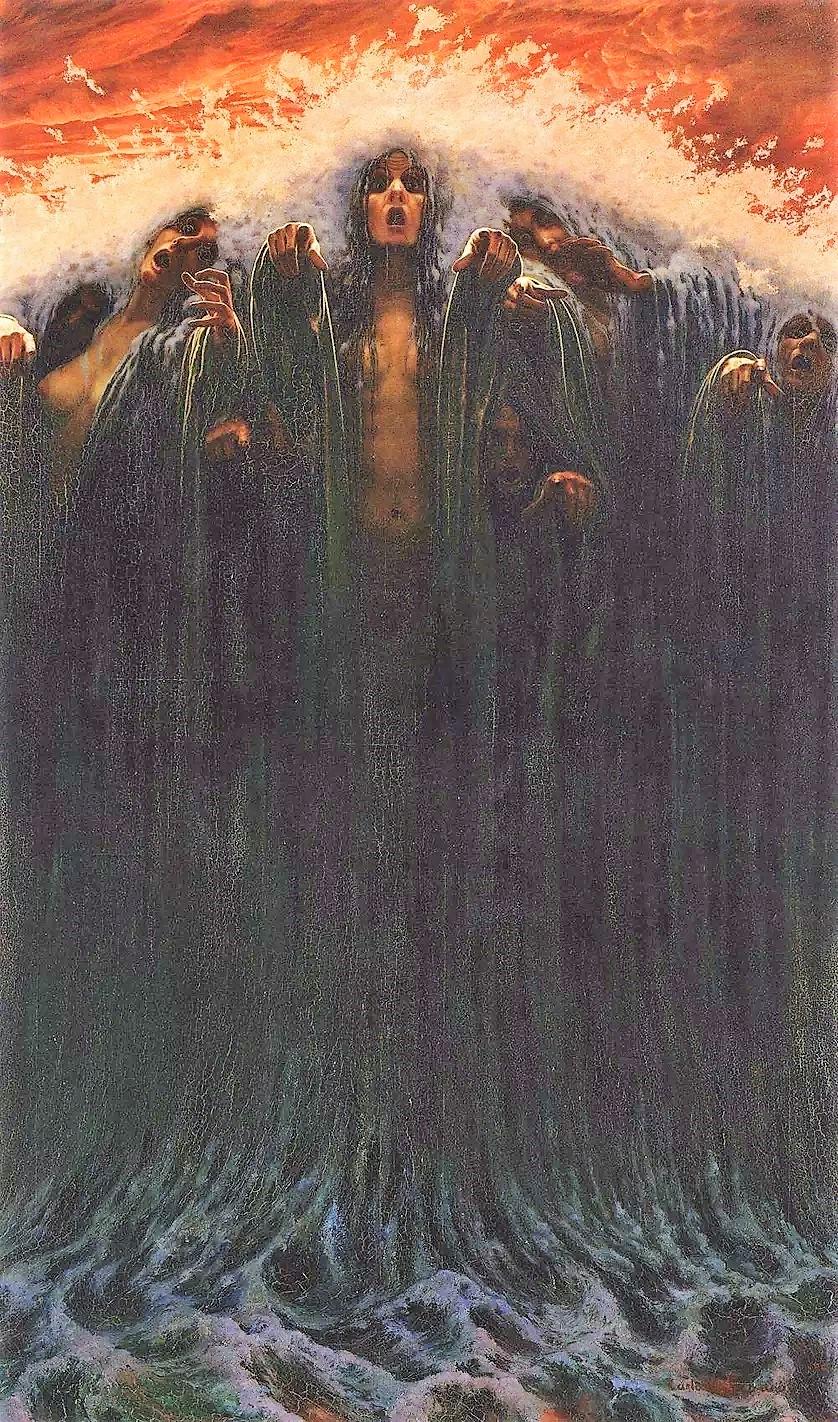 Carlos Schwabe La vague 1907 Musee d'art et d'histoire de Geneve