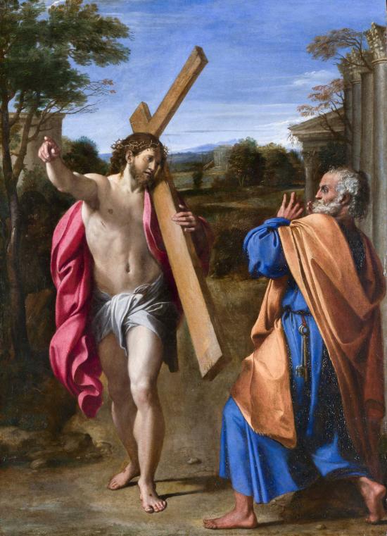 Carracci Domine Quo Vadis (1601-02) National Gallery, London