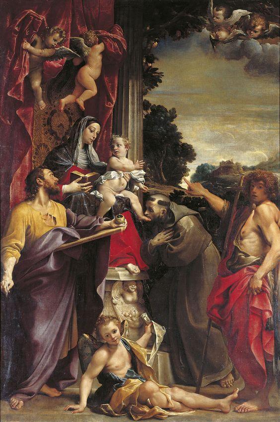 Carrache Vierge et saints 1588 Dresden, Gemaldegalerie Alte Meister,