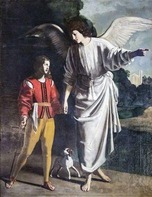 Cathedrale_Saint-Just_de_Narbonne_-_Tobie_et_l'ange_-_Tournier_Nicolas_-_1635-1636
