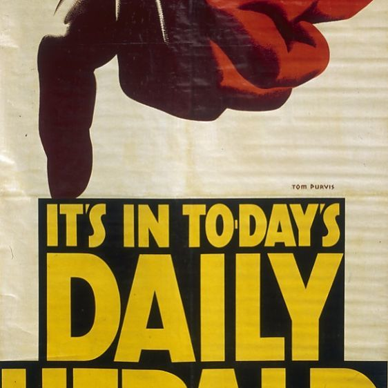 Poster advertising the Daily Herald