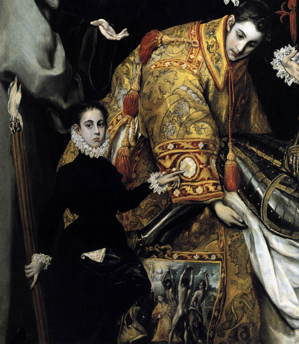 El_Greco_-_The_Burial_of_the_Count_of_Orgaz 1586-88 eglise de Santo Tome, Tolede Jorge Manuel