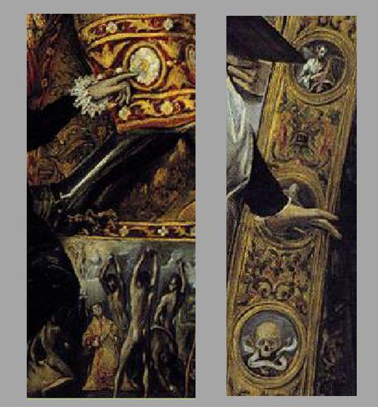 El_Greco_-_The_Burial_of_the_Count_of_Orgaz 1586-88 eglise de Santo Tome, Tolede chasuble