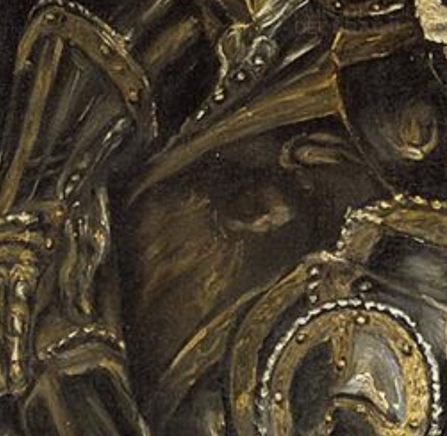 El_Greco_-_The_Burial_of_the_Count_of_Orgaz 1586-88 eglise de Santo Tome, Tolede detail