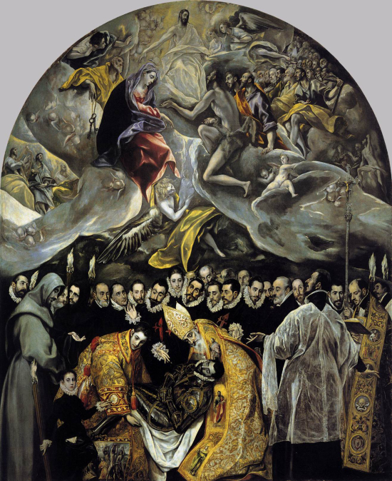 El_Greco_-_The_Burial_of_the_Count_of_Orgaz 1586-88 eglise de Santo Tome, Tolede