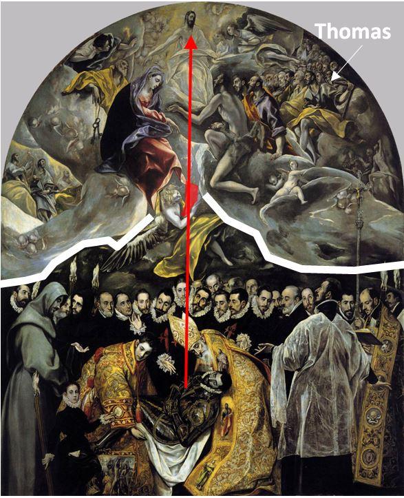 El_Greco_-_The_Burial_of_the_Count_of_Orgaz 1586-88 eglise de Santo Tome, Tolede schema