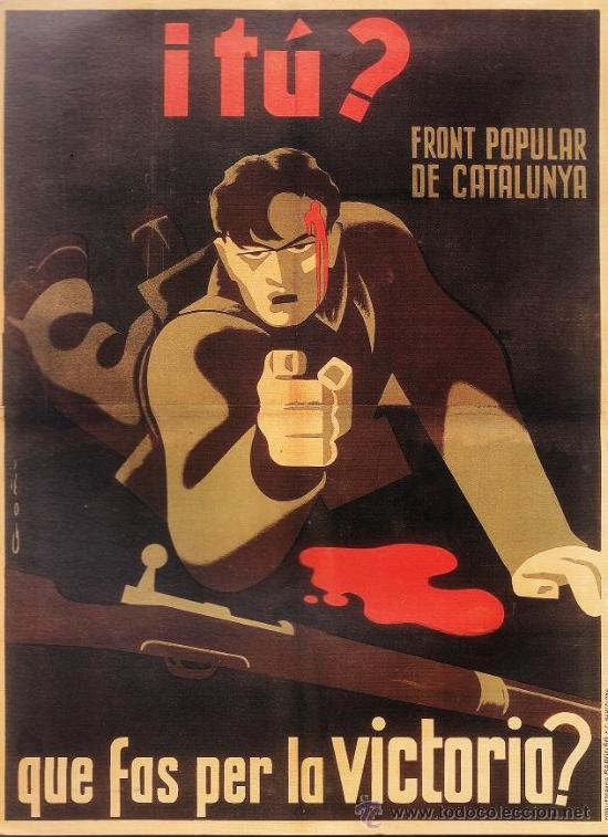 Espagne 1936 affiche de Lorenzo Goni