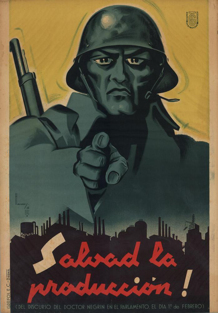Espagne 1938 Salva la produccion affiche de Henry (Enrique Ballesteros)