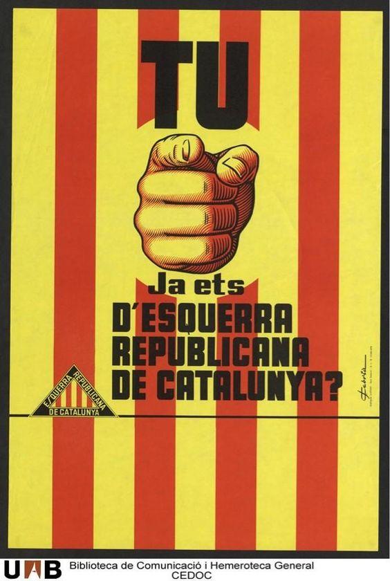 Espagne 1978 tu, ja ets d'Esquerra Republicana de Catalunya (Gauche républicaine de Catalogne)