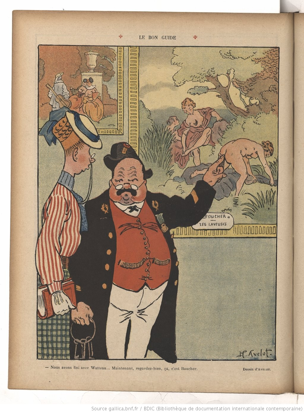 Henri Avelot Le Rire, 17 October 1908 Gallica
