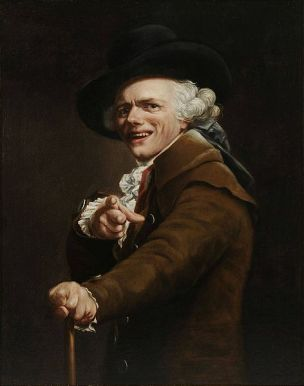 Joseph Ducreux 1793 Self-portrait of the artist in the guise of a mocker Musee de la Revolution francaise
