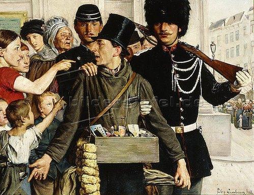 L'arrestation 1882 Jules Lambeaux Coll part