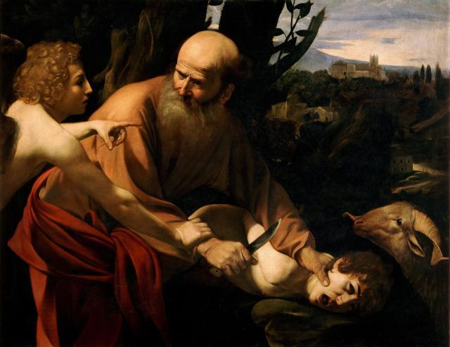 Le Sacrifice d'Isaac Caravage 1597-1603 Offices
