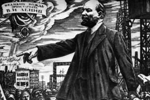 Lenine s'adressant aux ouvriers