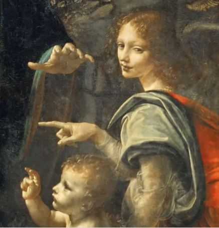 Leonardo_Da_Vinci_-_Vergine_delle_Rocce_(Louvre) 1483-1486 detail