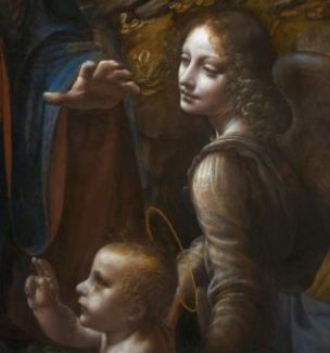 Leonardo_da_Vinci_Virgin_of_the_Rocks_(National_Gallery_London) 1507- 1508 detail