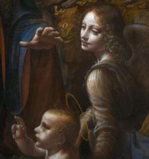 Leonardo_da_Vinci_Virgin_of_the_Rocks_(National_Gallery_London) 1507- 1508 detail