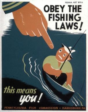 Obey the fishing law USA 1935
