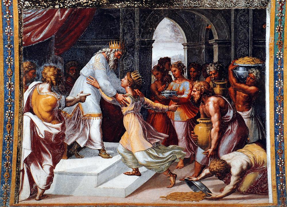 Rapahel Loggia du Vatican La Reine de Saba 1514- 1519
