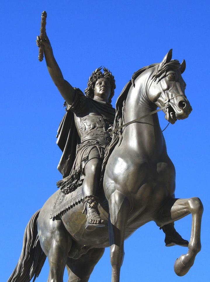 STATUE EQUESTRE DE Louis XIV, Montpellier, Peyrou